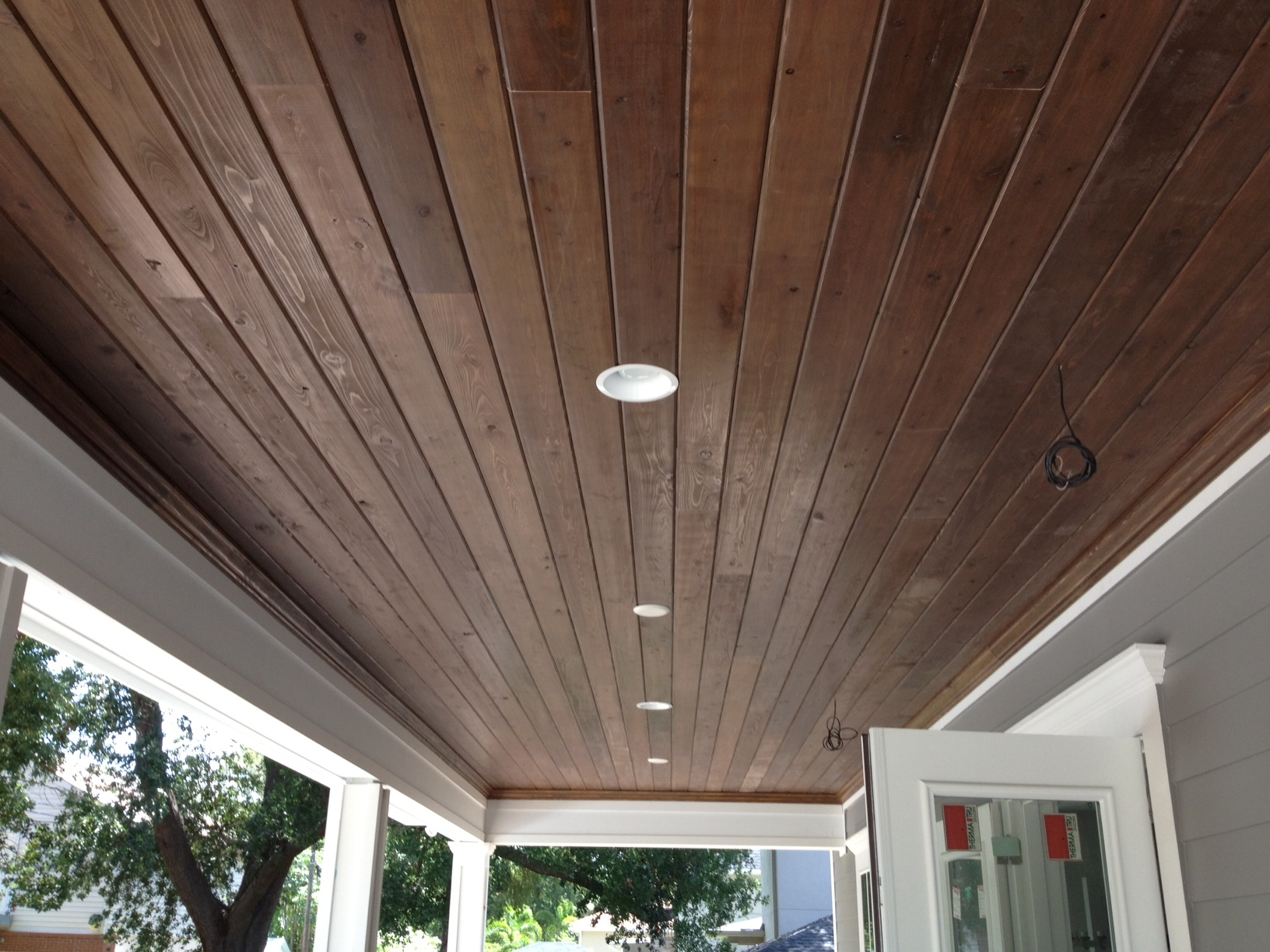 Tongue and groove ceiling - Gloger Construction
